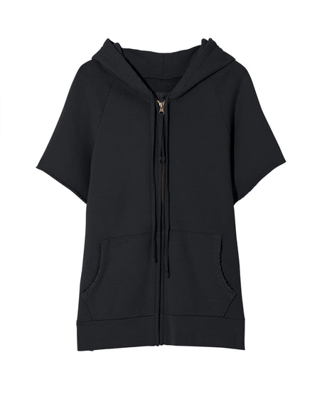 Percy Hoodie in Washed Black