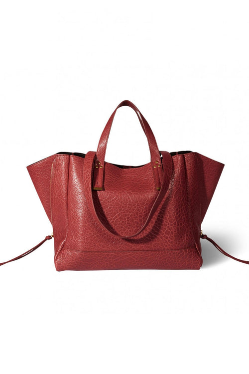 Georges Medium Lambskin Bag in Old Red