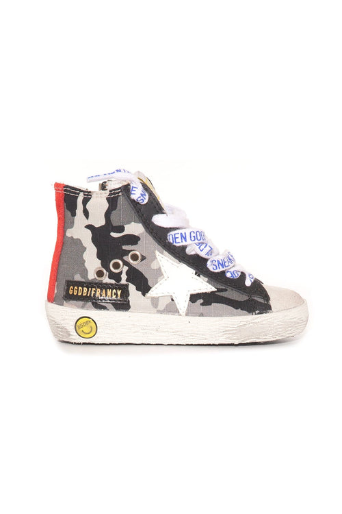 Kids Francy Sneaker in Grey Camouflage/Ice/White/Ruby
