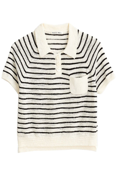 Clifford Sweater in Navy/White Stripe