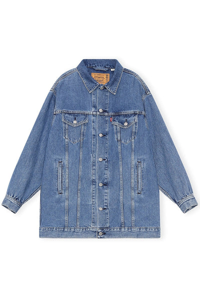 Levi's Denim Mini Dress in Medium Indigo