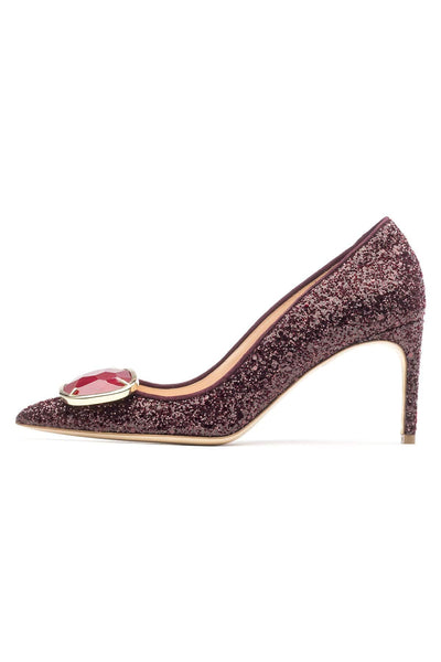 New Nada Cosmo Red Crystal Pump