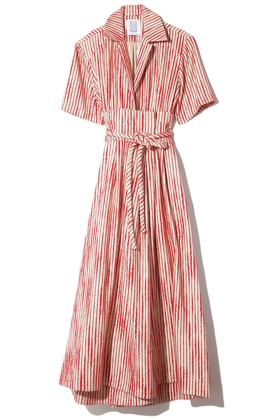 Obi Shirtdress in Red/Cream