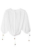 Breeze Embroidery Blouse in White