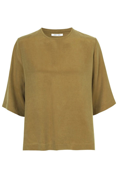 Isabel Blouse in Green Khaki