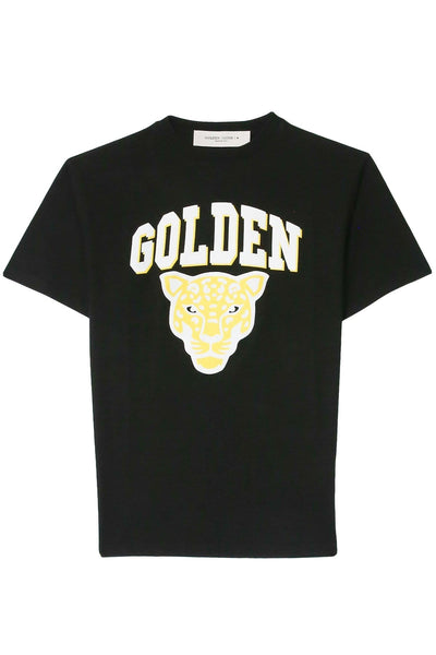 Golden T-Shirt in Black/Golden Tiger