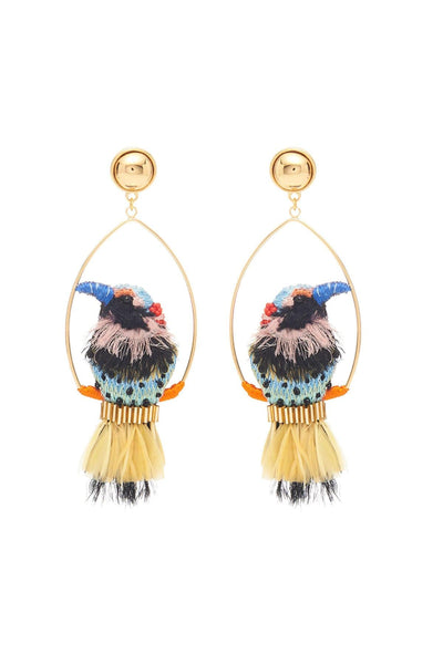 Woodpecker Swing Earring in Multi