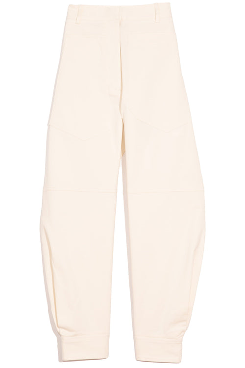 Myriam Twill Sculpted Pant in Ivory