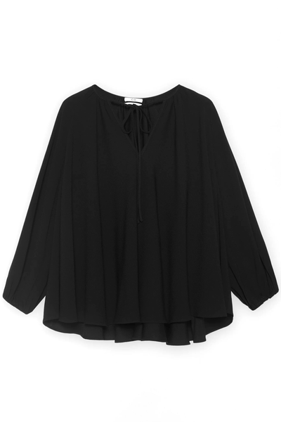 Peasant Sleeve Blouse in Black