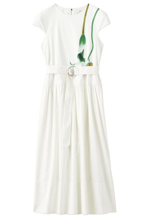 Calla Lily Dropwaist Dress in White