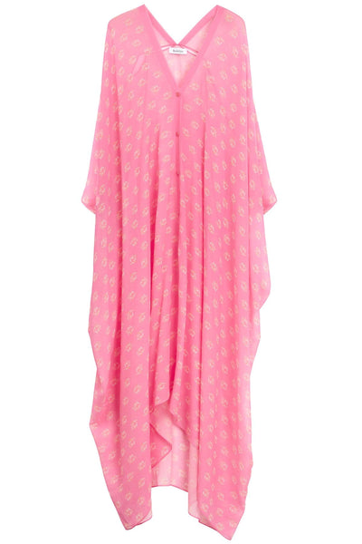 Agave Seahorse Caftan in Neon Pink