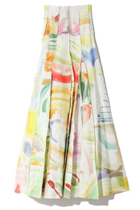 Million Pleats Skirt in Capri Sun Watercolor