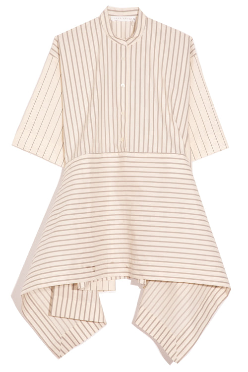 Greta Shirt in Cream Stripe