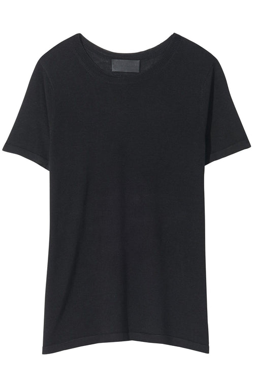 Kimberly Short Sleeve Sweater in Black