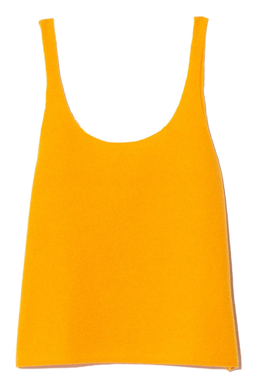 Boiled Wool Sweater Cami in Marigold