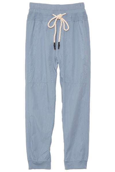 Utility Cotton Jersey Pant in Denim Blue