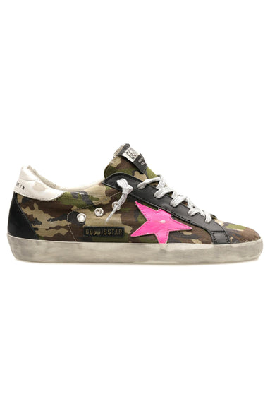 Superstar Sneaker in Green Camo/Fuxia Fluo/White/Black
