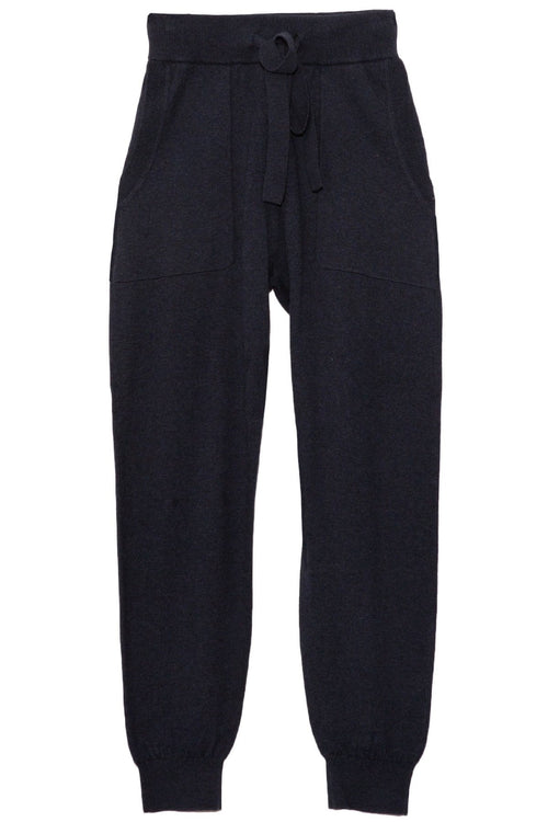 Cotton Cashmere Track Pant in Navy