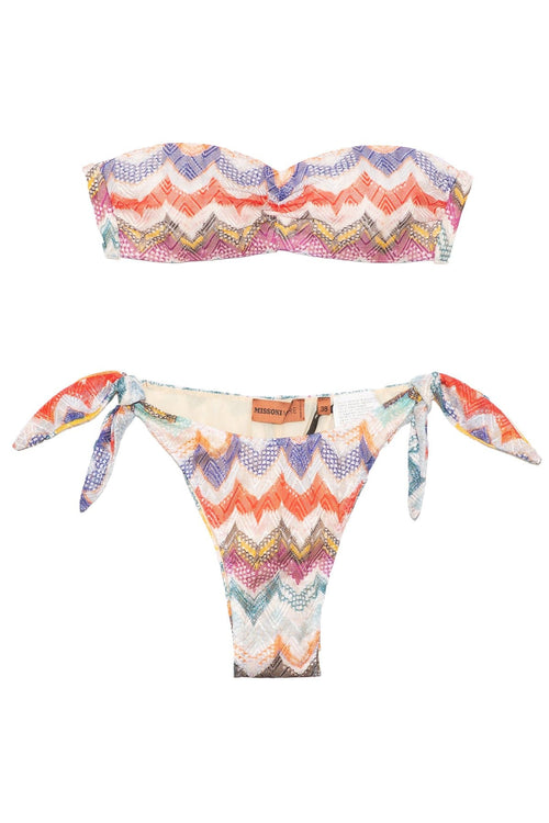 Bandeau Bikini with Bow in Multi
