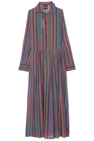 Baba Dress in Optic Stripe