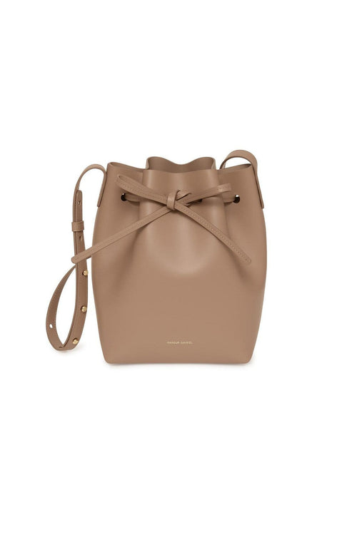 Mini Mini Bucket Bag in Biscotto