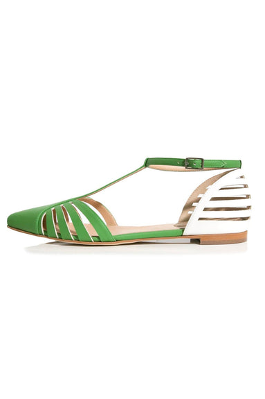 Mary Jane Lattice Sandals in Sour Apple