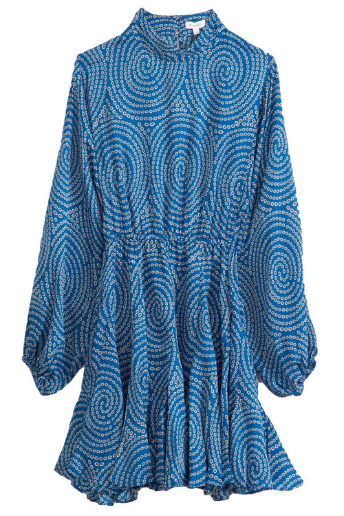 Caroline Dress in Blue Trail