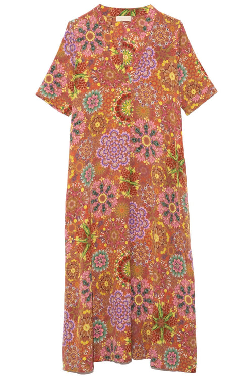 Altamura Dress in Brick/Pink