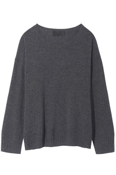 Boyfriend Sweater in Charcoal