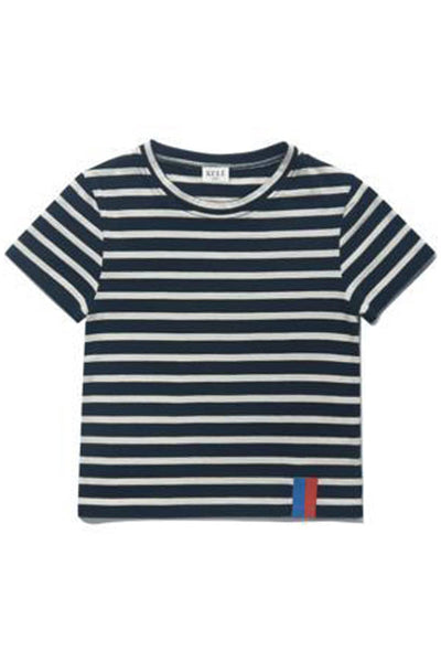 Kids The Charley Top in Navy/Cream