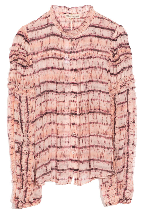 Mari Blouse in Blush Tie Dye