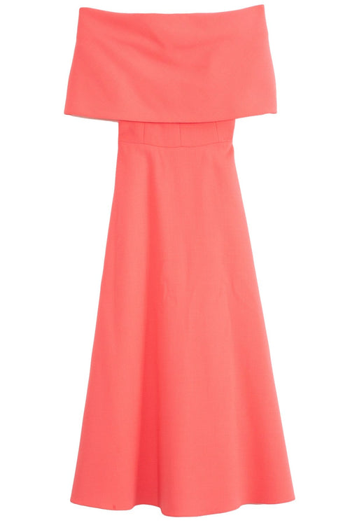 Off The Shoulder A-Line Dress in Peony