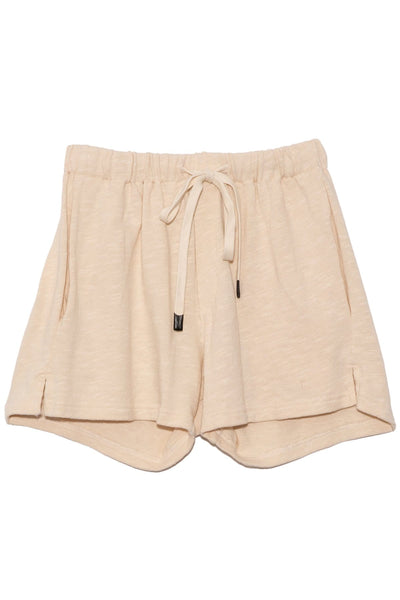 Slub Rib Athletic Beach Short in Canvas
