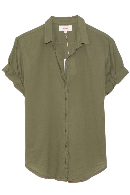Channing Shirt in Olive Palm