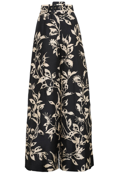 Ladybeetle Belted Pant in Black Eye Print