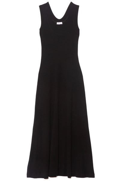 U-Neck Tank Dress in Black