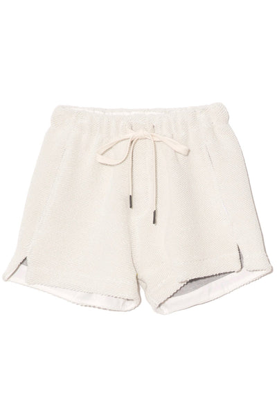 Reverse Fleece Beach Short in Grey Marl