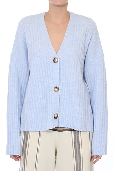 Crescent Cardigan in Skyway Blue