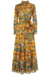 Bellini Dress in Tree of Life Arancio