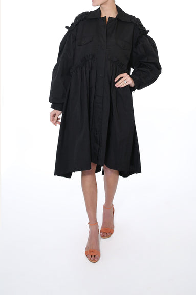 Mable Coat Dress in Black