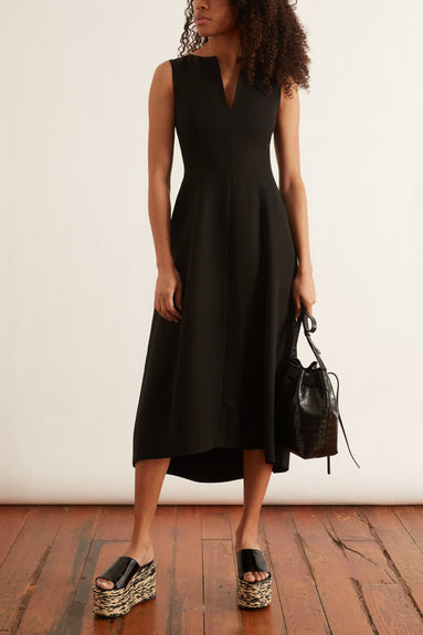 Sleeveless Tulip Dress in Black