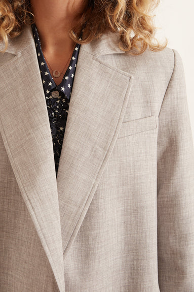 Theo Blazer in Grey Melange