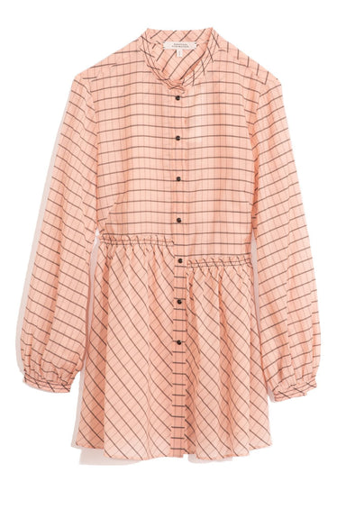 Checked Transparencies Blouse in Rose Check