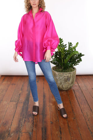 Lady Big Shirt in Fuschia