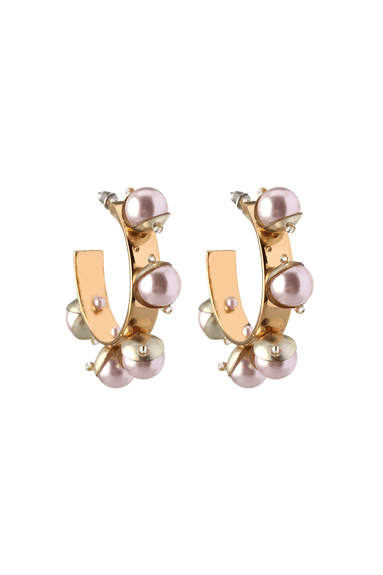 Mini Delfina Hoops in Blush