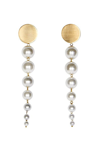Lucy Earring in White/Gold