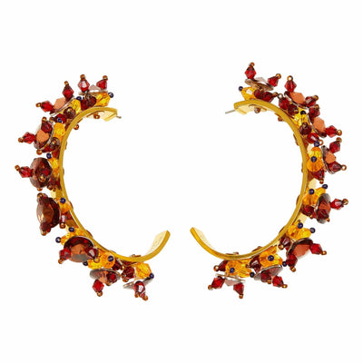 Medium Savannah Hoops in Maroon