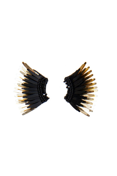 Mini Madeline Earrings in Black/Gold