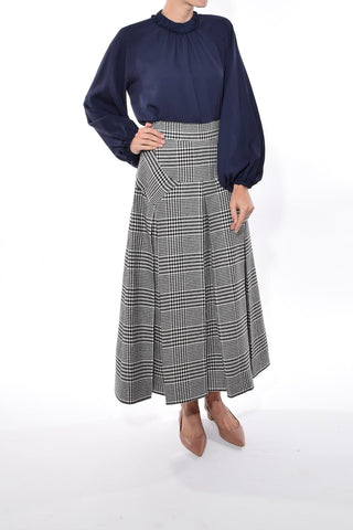 Giuliana Skirt in Black/White