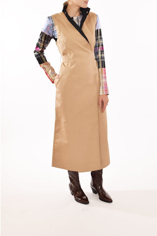 Double Cotton Dress in Tannin